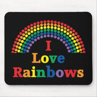 I Love Rainbows Gay Gift Mouse Pad