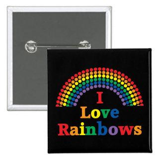I Love Rainbows Gay Gift Pin