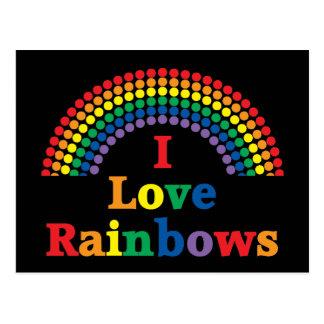 I Love Rainbows Gay Gift Postcard