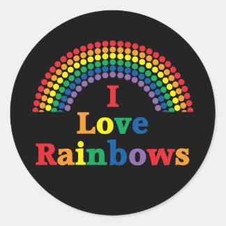 I Love Rainbows Gay Gift Sticker