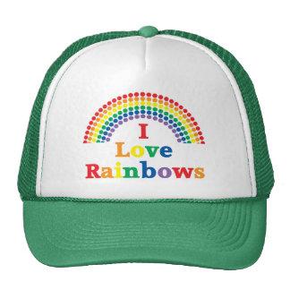 I Love Rainbows Gay Gift Trucker Hats