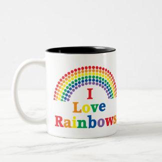 I Love Rainbows Gay Gift Two-Tone Coffee Mug