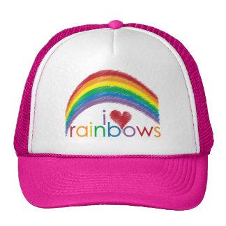 i love rainbows trucker hat