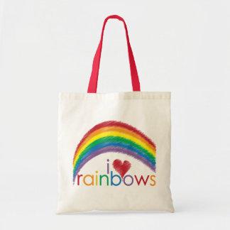 i love rainbows tote bag