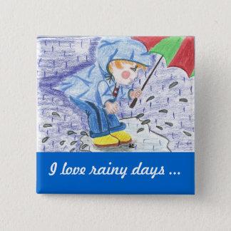 I love rainy days button