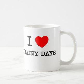 I Love Rainy Days Classic White Coffee Mug