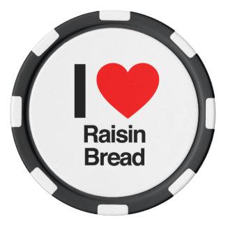 i love raisin bread set of poker chips