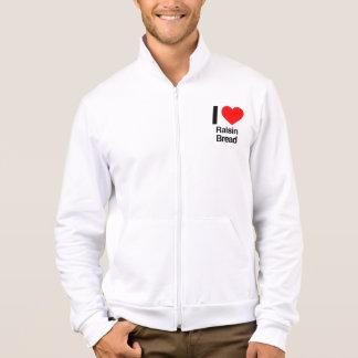 i love raisin bread printed jacket