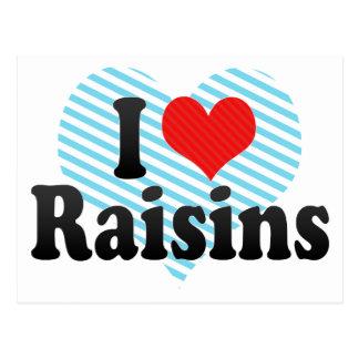 I Love Raisins Postcard