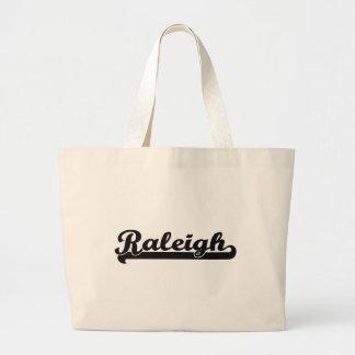 I love Raleigh North Carolina Classic Design Jumbo Tote Bag