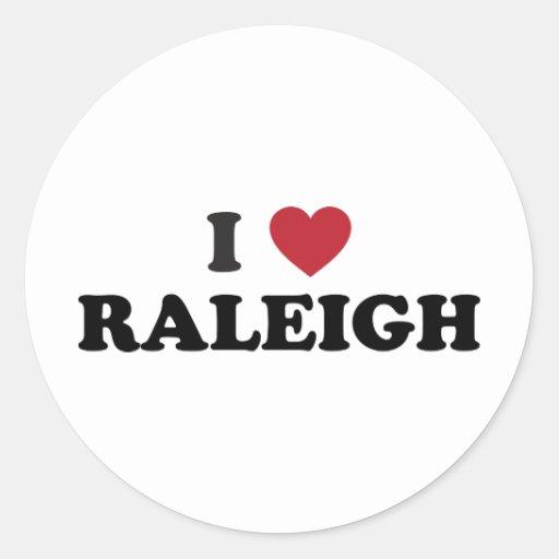 I Love Raleigh North Carolina Classic Round Sticker