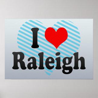 I Love Raleigh, United States Print