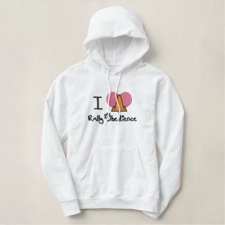 I Love Rally Obedience Embroidered Hoodie