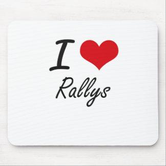 I Love Rallys Mouse Pad
