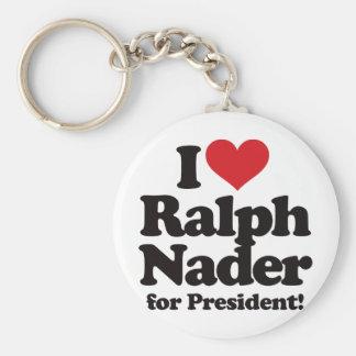 I Love Ralph Nader for President Keychain