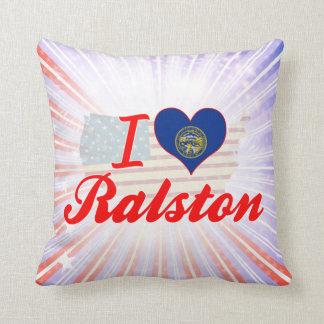 I Love Ralston, Nebraska Throw Pillow