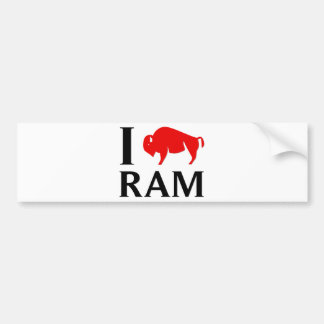 I Love Ram Bumper Sticker