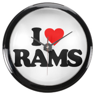 I LOVE RAMS FISH TANK CLOCK