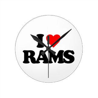 I LOVE RAMS CLOCKS