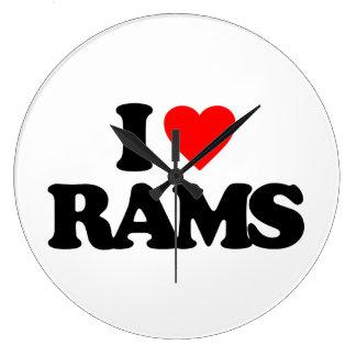 I LOVE RAMS WALLCLOCK