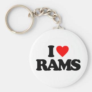I LOVE RAMS KEYCHAIN