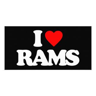 I LOVE RAMS PICTURE CARD