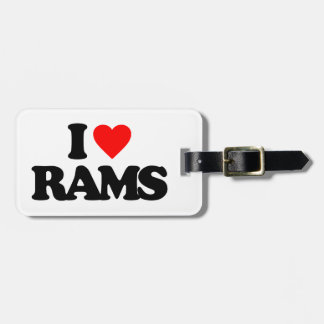 I LOVE RAMS TAGS FOR BAGS