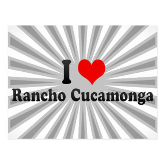 I Love Rancho Cucamonga United States Post Card