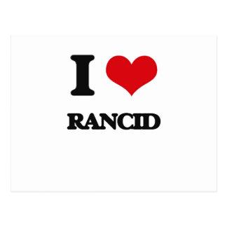 I Love Rancid Postcard