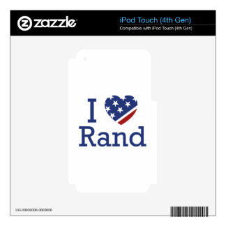 I Love Rand Decal For iPod Touch 4G
