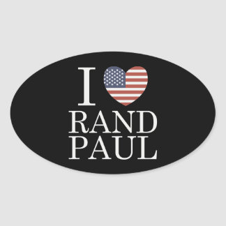 I Love Rand Paul Oval Sticker
