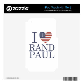 I Love Rand Paul Skins For iPod Touch 4G