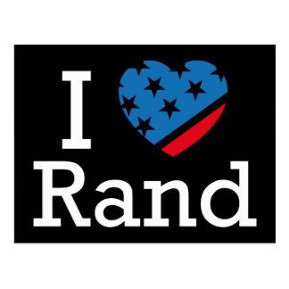 I Love Rand Postcard