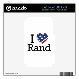 I Love Rand Skin For iPod Touch 4G