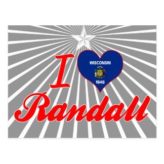 I Love Randall, Wisconsin Postcard