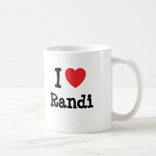 I love Randi heart T-Shirt Mugs