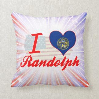 I Love Randolph, Nebraska Pillow