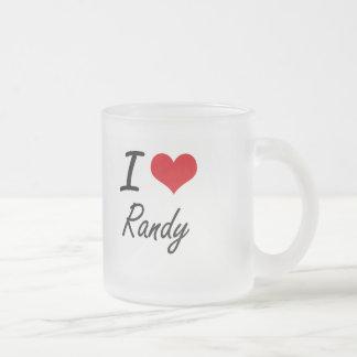 I Love Randy 10 Oz Frosted Glass Coffee Mug