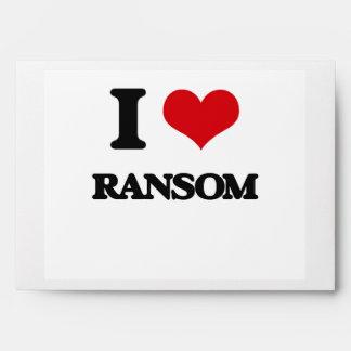 I Love Ransom Envelopes