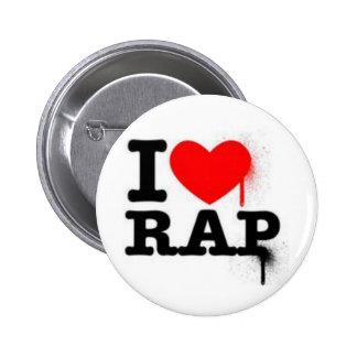 I LOVE RAP - button Anstecker pin button