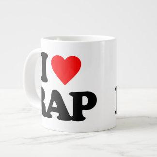 I LOVE RAP GIANT COFFEE MUG