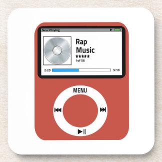 I love Rap Music Drink Coaster