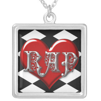 I Love Rap Silver Plated Necklace