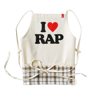 I LOVE RAP ZAZZLE HEART APRON