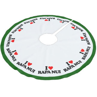 I LOVE RAPA NUI BRUSHED POLYESTER TREE SKIRT