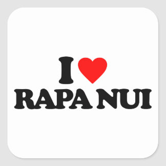 I LOVE RAPA NUI SQUARE STICKER
