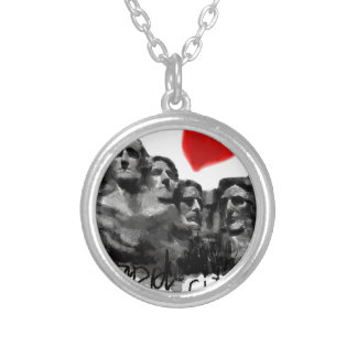 I love Rapid City Silver Plated Necklace