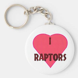 I love raptors Keychain