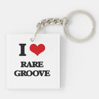 I Love RARE GROOVE Acrylic Keychains