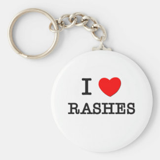 I Love Rashes Basic Round Button Keychain